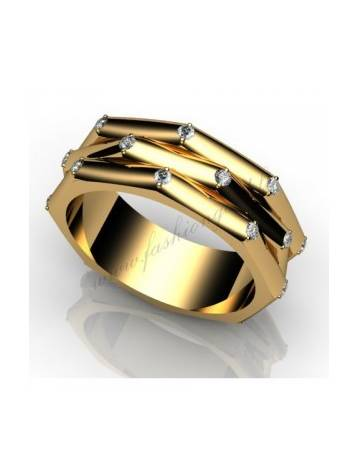 "WEDDING RING ""LOVE PLANET WITH DIAMONDS"""