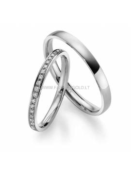 "WEDDING RING ""CLASSIC RIBON"" (with diamonds)"