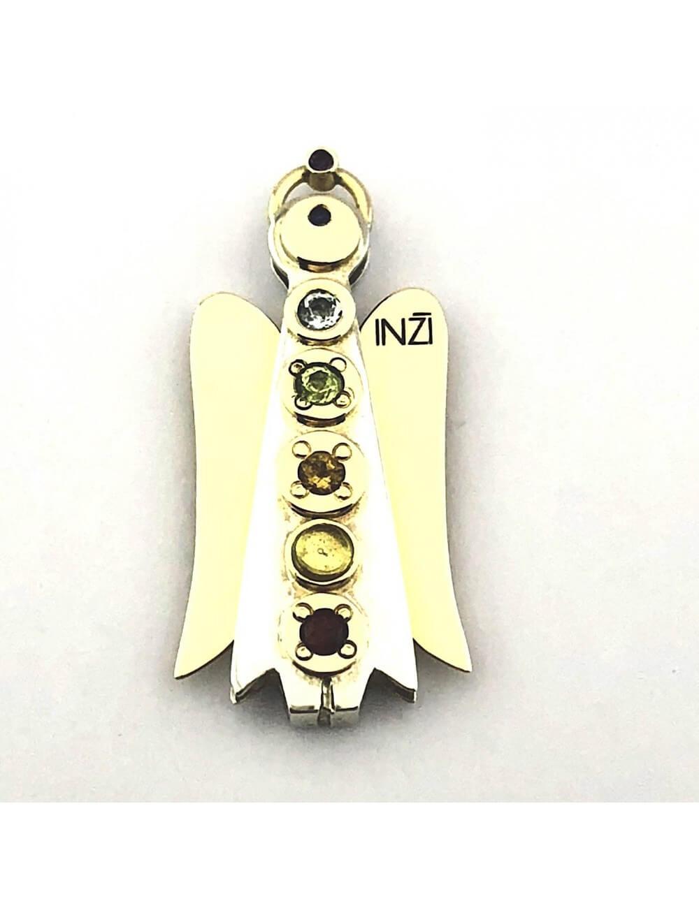 """Aukso su sidabru pakabukas """"INGRID INŽI"""" papuošalų kolekcija."""