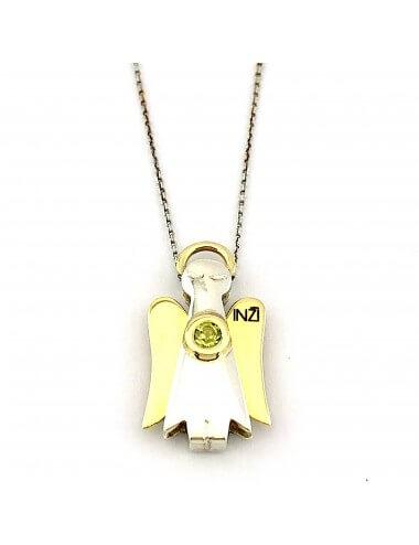 """Sidabro su aukso detalėmis pakabukas """"INGRID INŽI"""" papuošalų kolekcija."""