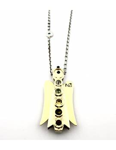 "Aukso/sidabro pakabukas su auksine grandinele ""INGRID INŽI"""