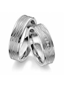 "WEDDING RING ""CIRCLE LINES"" (with diamonds)"