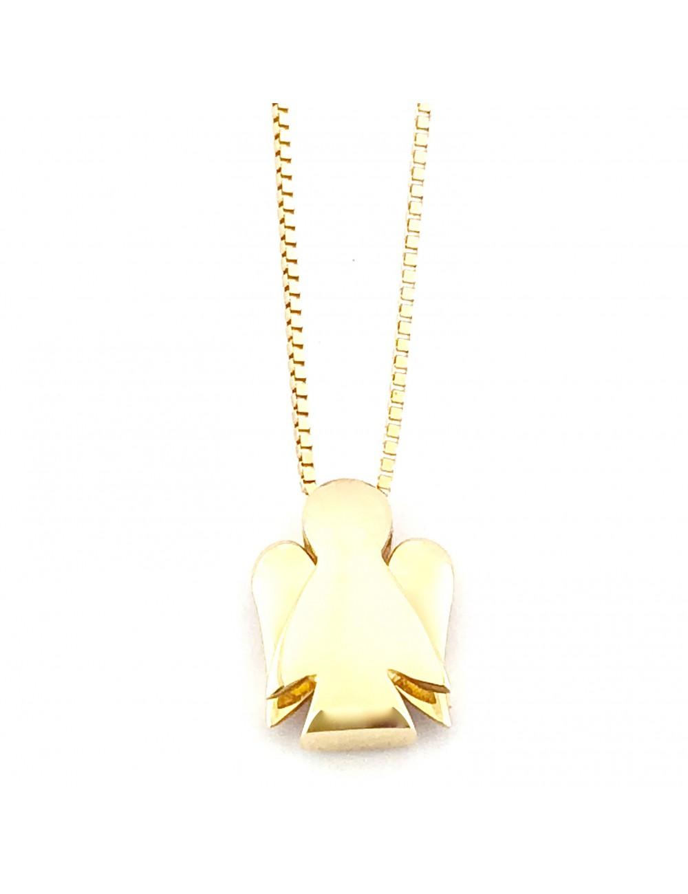 Raudono aukso grandinėlė su angelo pakabuku (Didelis dydis)