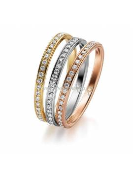 "WEDDING RING ""COLOR TRIO"""