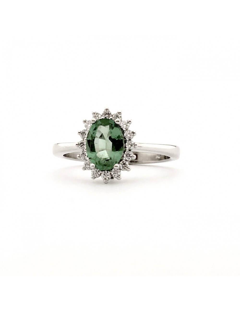 """Sužadėtuvių žiedas su smaragdu """"Smaragdinis žėrėjimas"""""""