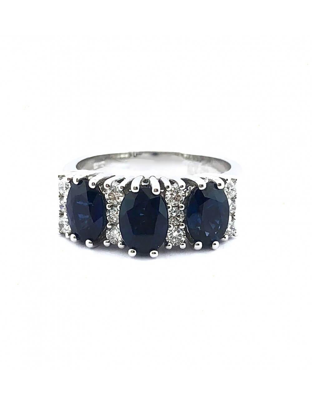 """Sužadėtuvių žiedas su safyrais """"Mėlyna mėlyna"""""""