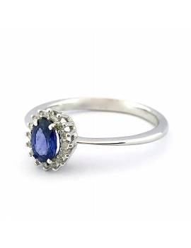 """Sužadėtuvių žiedas su safyrais """"Lašeliai"""""""