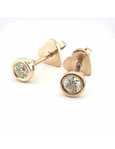 """Auksiniai auskarai su briliantais """"Deimantinės saulytės"""""""