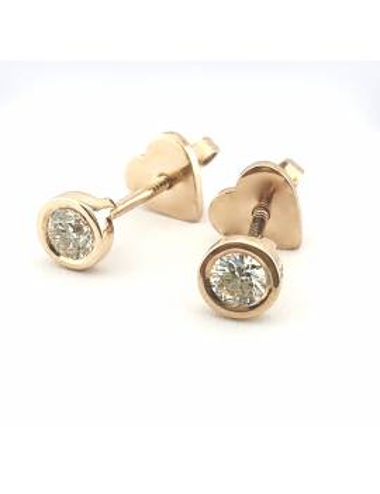 """Auksiniai auskarai su briliantais """"Deimantiniai lašeliai"""""""