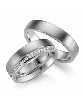 "WEDDING RING ""LOVE LOVE"" (with diamonds)"