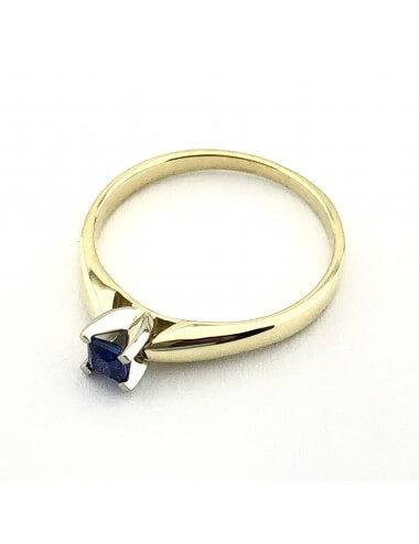 "Auksinis žiedas su safyru ""Gilus vandenynas"""