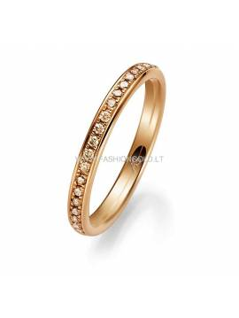 "WEDDING RING ""GOLDEN DIAMONDS"""