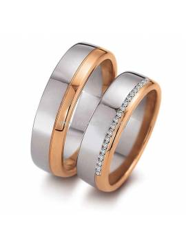 "WEDDING RING ""SHINING CONTRAST"" (with diamonds)"