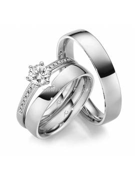 "WEDDING RING ""SMART DECISION"" (with diamonds)"