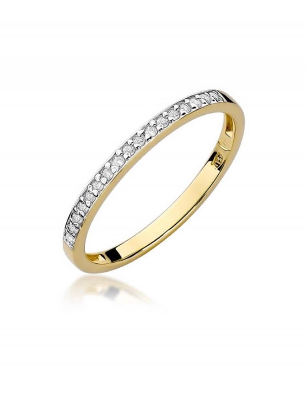 """Geltono aukso deimantinė juostelė """"Laimė"""""""