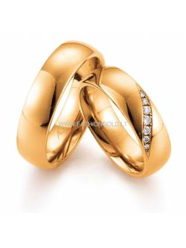"WEDDING RING ""DIAMOND WAVE"" (with diamonds)"
