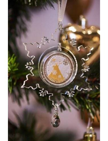 """Medalis """"Šv. Kalėdos"""" su eglutės žaisliuku ir kalėdine dekoracija"""
