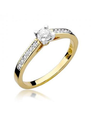 """Sužadėtuvių žiedas """"Vega"""" (geltono aukso)"""