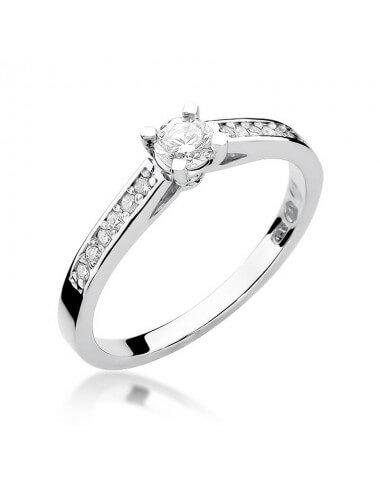 """Sužadėtuvių žiedas """"Kapela A"""" (balto aukso)"""