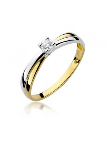 """Sužadėtuvių žiedas """"Karina""""(geltono aukso)"""
