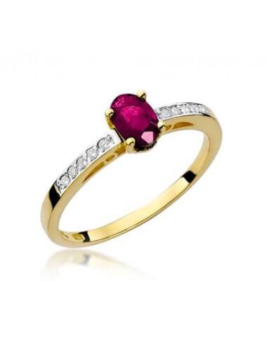 """Sužadėtuvių žiedas """"Lambda"""" su rubinu"""