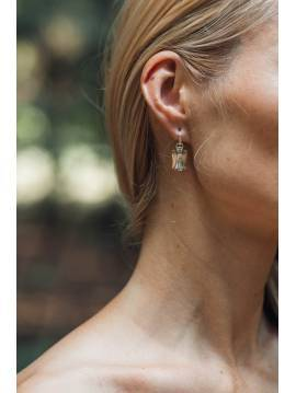 "Silver with gold details earrings ""INGRID INŽI"" collection"