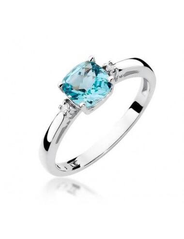 """Sužadėtuvių žiedas """"Elegantiškas"""" su topazu"""