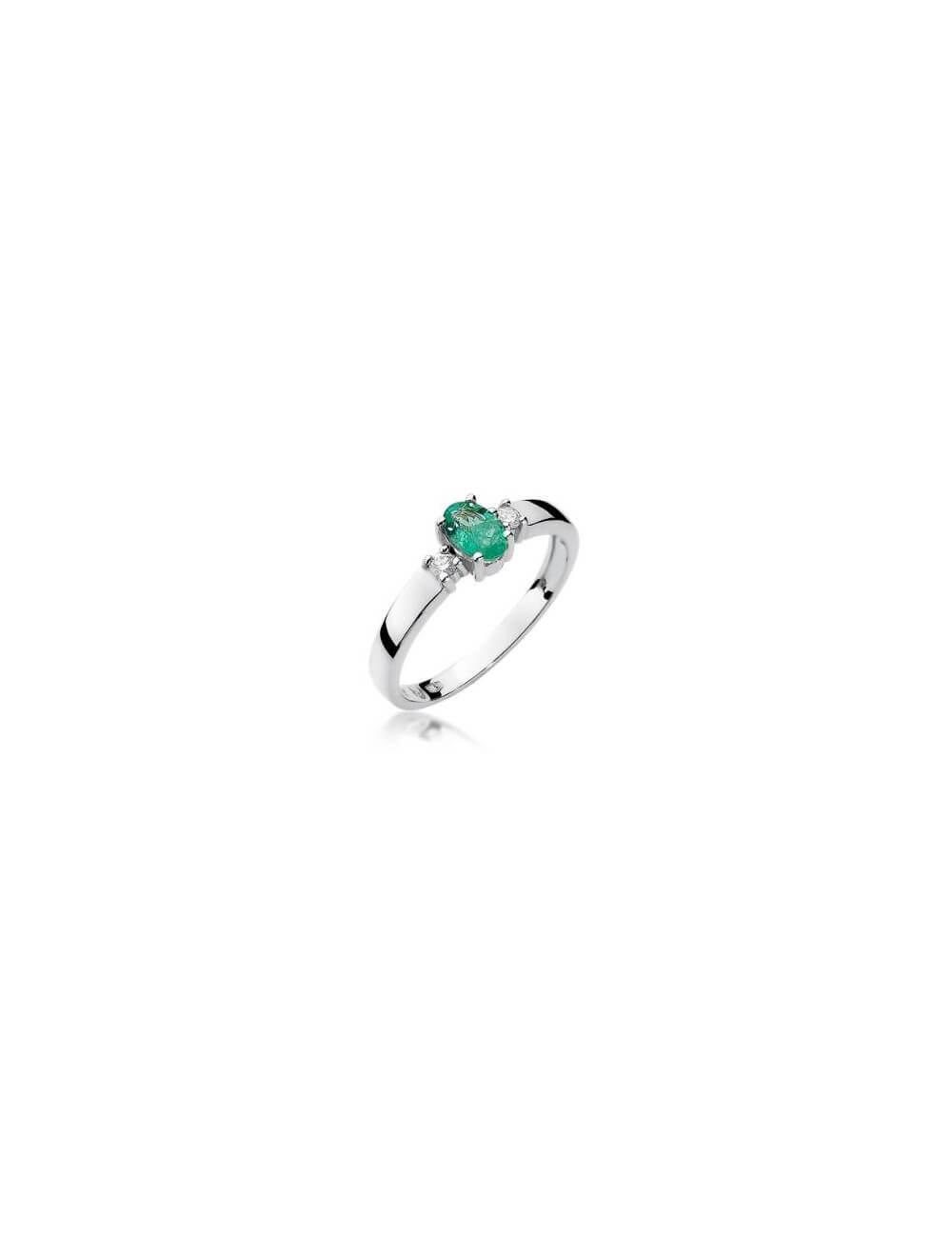 """Sužadėtuvių žiedas """"Tvirta meilė"""" su smaragdu"""