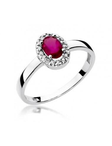 """Sužadėtuvių žiedas """"Spindinti akutė"""" su rubinu"""
