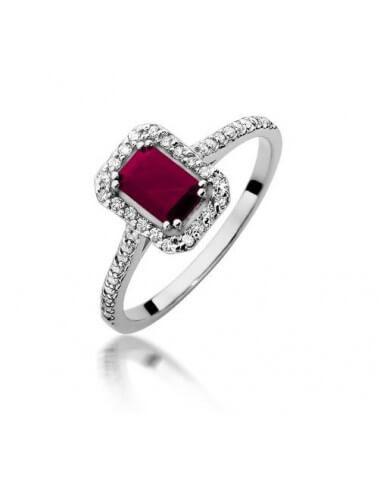 """Sužadėtuvių žiedas """"Tvirta meilė"""" su rubinu"""