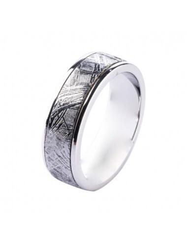 """Vestuvinis žiedas """"Meteoritas su sidabru"""""""