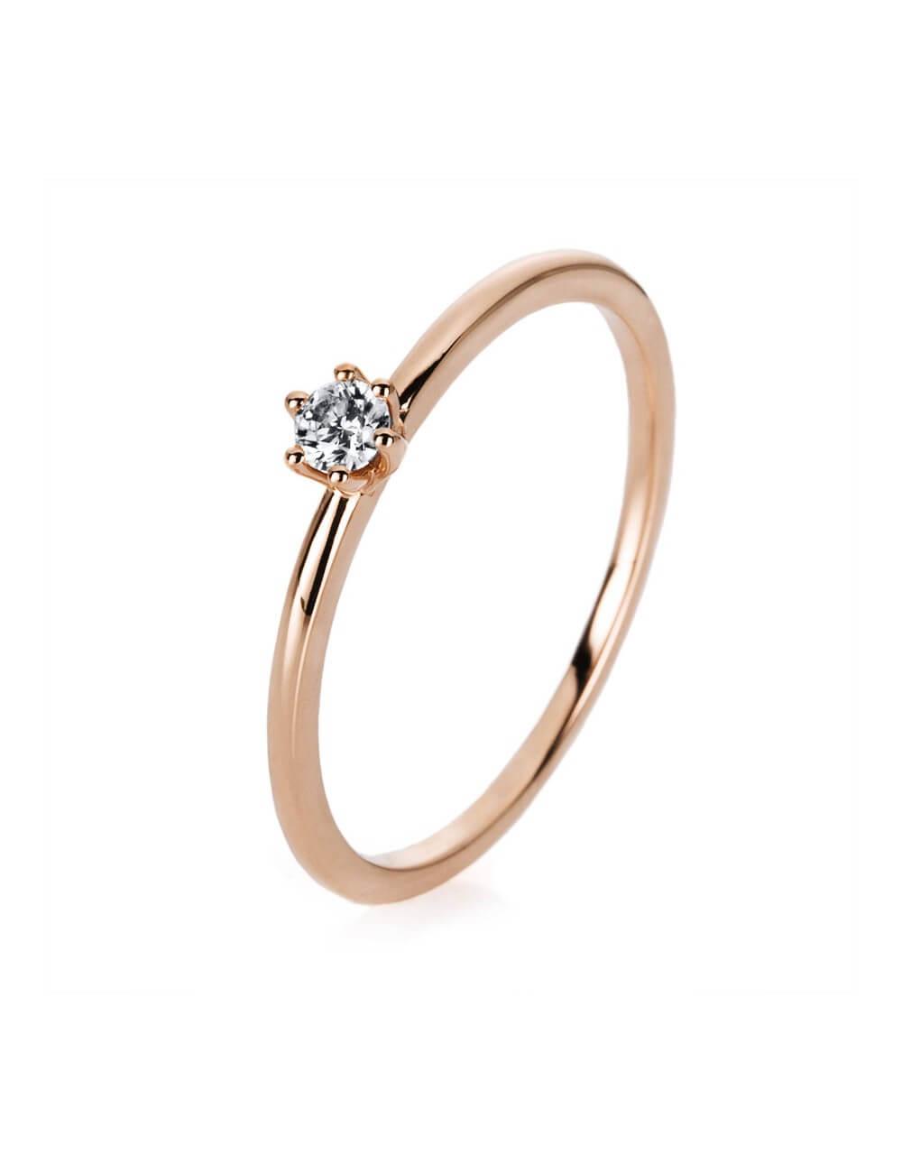 """Sužadėtuvių  žiedas su briliantu """"Stebuklas  (16 dydį turime salone)"""