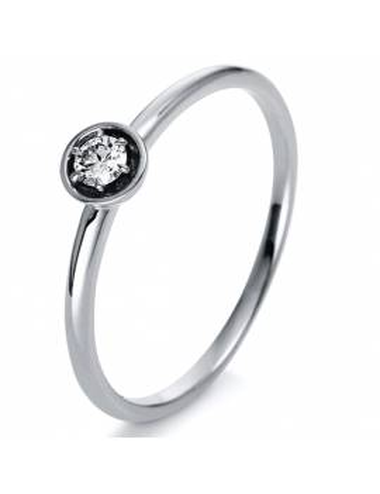 """Auksinis žiedas su briliantu """"Snaigė"""""""