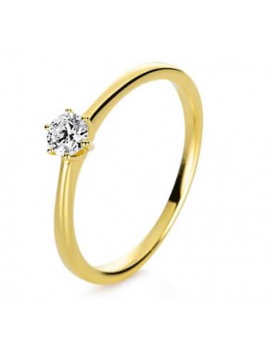 """Sužadėtuvių  žiedas su briliantu """"Spindulys"""""""