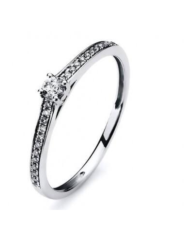 """Sužadėtuvių  žiedas su briliantu """"Labai tave myliu"""""""