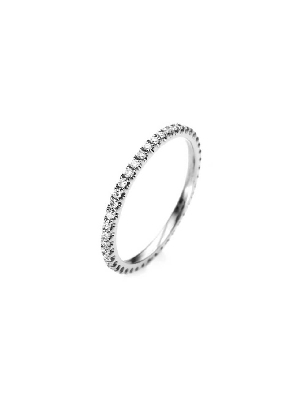 """Sužadėtuvių  žiedas su briliantu """"Deimantinė juostelė 44"""""""