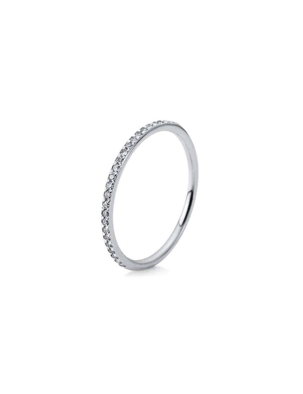 """Sužadėtuvių  žiedas su briliantu """"Deimantinė juostelė"""""""