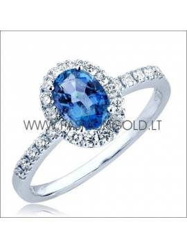 "GOLD RING ""SAPPHIRE BLUE"""