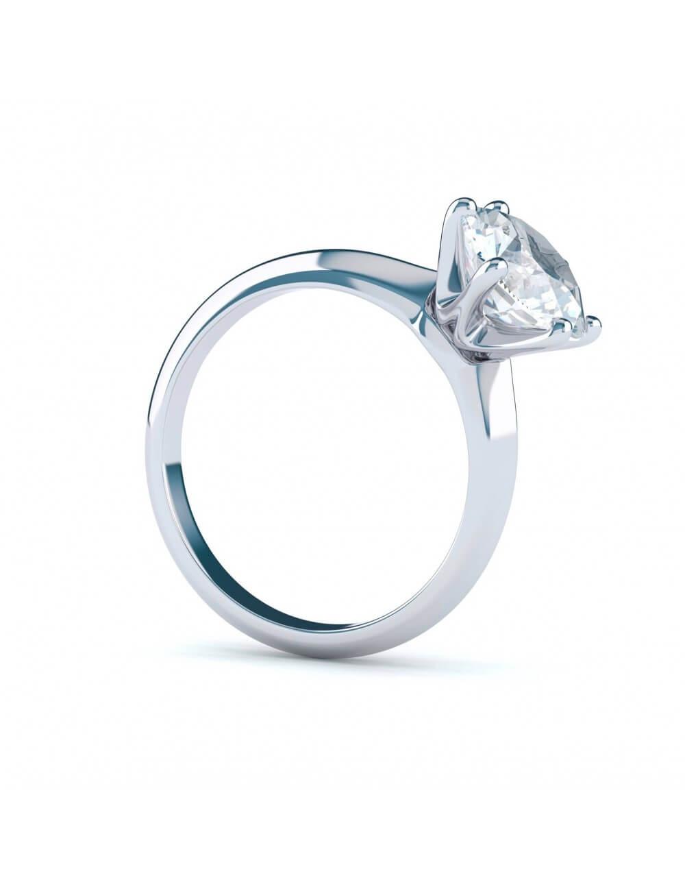 Žiedas su 1 ct briliantu (svoris 3 g, spalva D, švarumas IF)