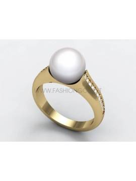 "ENGAGEMENT RING ""PEARL"""