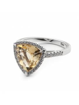 GOLDEN RING WITH CITRINE