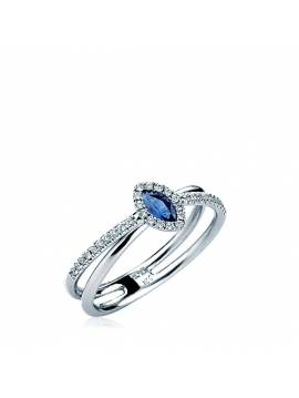 "ENGAGEMENT RING ""BLUE DROP"""