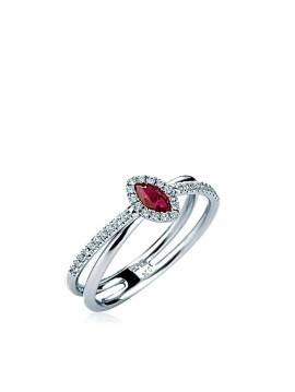 "ENGAGEMENT RING ""RED DROP"""