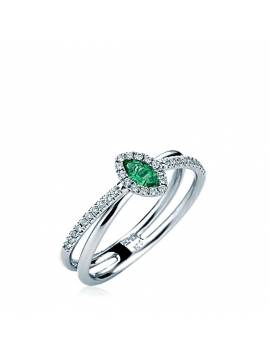"ENGAGEMENT RING ""GREEN DROP"""