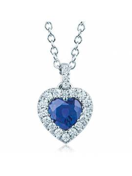 "NECKLACE ""SAPPHIRE HEART"""