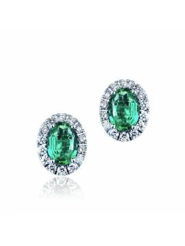 "EARRINGS ""EMERALD GLITTER"""