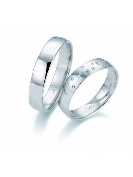 "WEDDING RING ""DIAMOND BEACH"" (with diamonds)"
