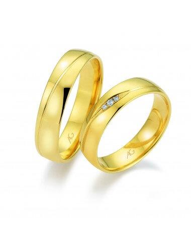 "WEDDING RING ""LOVE ISLAND"" (with diamond)"