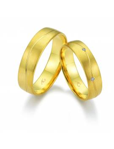 "WEDDING RING ""SMILE"" (with diamond)"