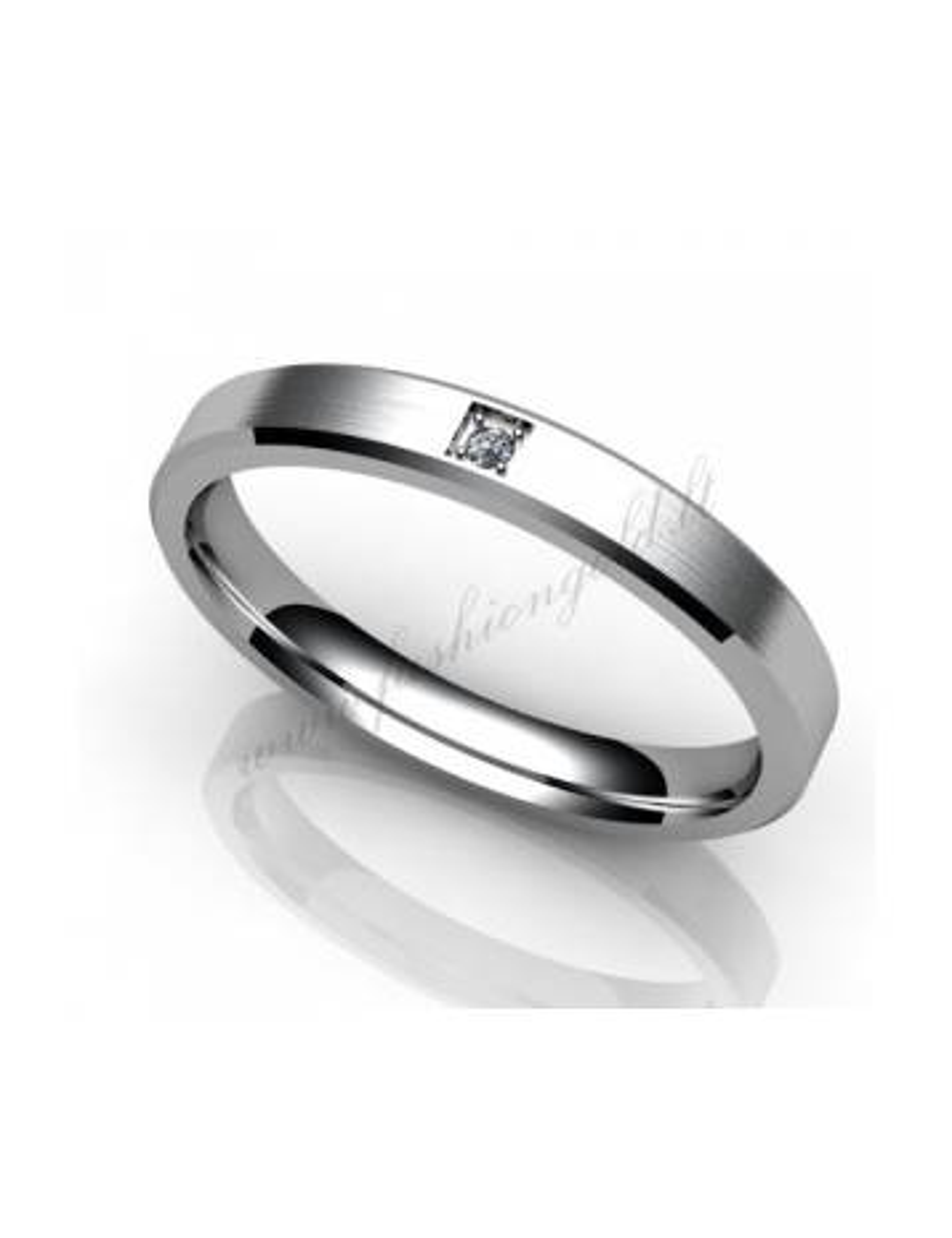 "WEDDING RING ""YELLOW PROMISE"" with diamond"